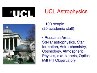 UCL Astrophysics