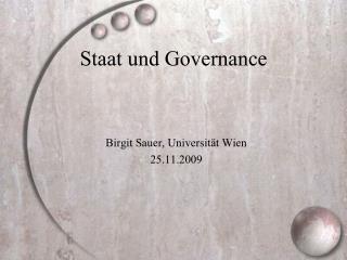 Staat und Governance