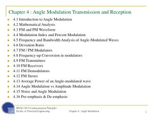 Chapter 4 : Angle Modulation Transmission and Reception