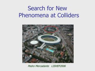 Search for New      Phenomena at Colliders