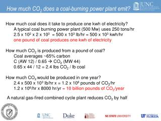 How much CO 2  does a coal-burning power plant emit?