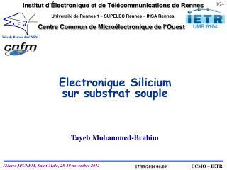 Electronique Silicium sur substrat souple