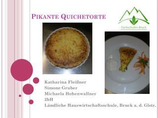 Pikante  Quichetorte