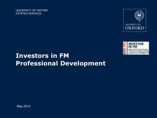 Investors in FM Professional Development