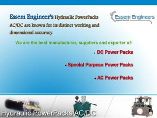 Get Hydraulic Power Packs DC/AC Manufacturer Suppliers in In