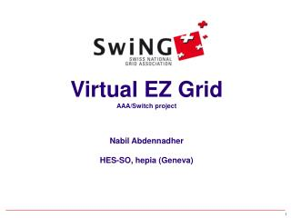 Virtual EZ Grid AAA/Switch project Nabil Abdennadher HES-SO, hepia (Geneva)