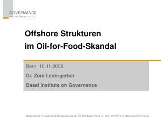 Offshore Strukturen  im Oil-for-Food-Skandal