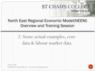 North East Regional Economic Model(NEEM) Overview and Training Session