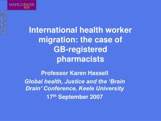 International health worker migration: the case of  GB-registered pharmacists
