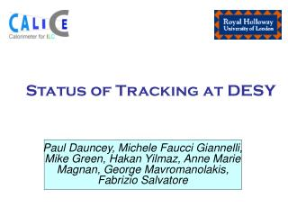 Status of Tracking at DESY