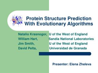Protein Structure Prediction  With Evolutionary Algorithms