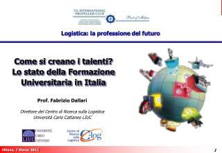 Come si creano i talenti?  Lo stato della Formazione Universitaria in Italia
