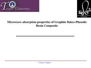 Microwave absorption properties of Graphite flakes-Phenolic Resin Composite