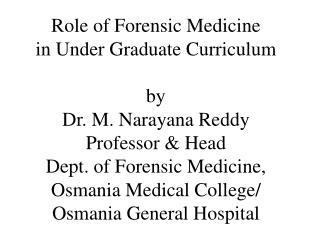 Law � Medicine Relationship