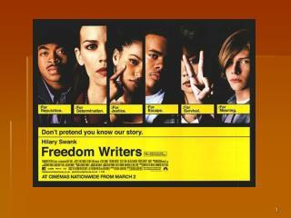 Freedom Writers Film Study