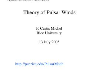Theory of Pulsar Winds