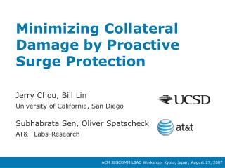 Minimizing Collateral Damage by Proactive Surge Protection