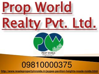 Jaypee Pavilion Heights Resale Price 09810000375 Sector 134