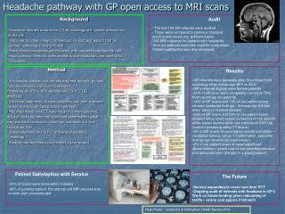 Headache pathway with GP open access to MRI scans