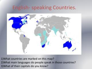 English- speaking Countries.