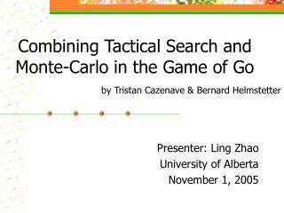 Combining Tactical Search and Monte-Carlo in the Game of Go