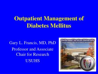 Outpatient Management of Diabetes Mellitus