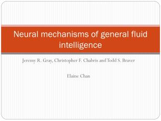 Neural mechanisms of general fluid intelligence