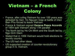 Vietnam – a French Colony