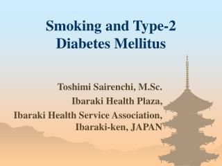 Smoking and Type-2               Diabetes Mellitus