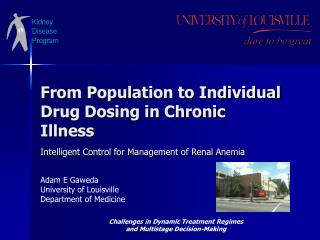 From Population to Individual Drug Dosing in Chronic Illness