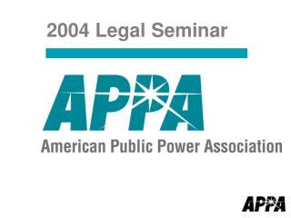 2004 Legal Seminar
