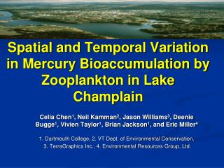 Spatial and Temporal Variation in Mercury Bioaccumulation by Zooplankton in Lake Champlain
