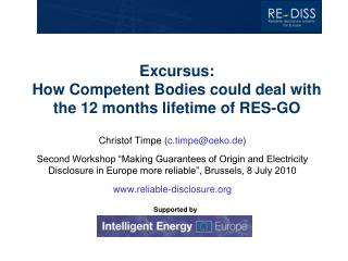Excursus:  How Competent Bodies could deal with the 12 months lifetime of RES-GO