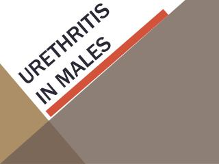 Urethritis in males