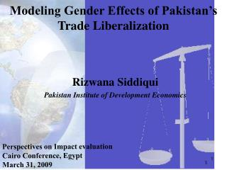Modeling Gender Effects of Pakistan's Trade Liberalization