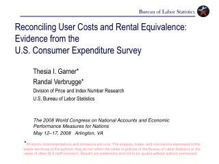 Reconciling User Costs and Rental Equivalence: Evidence from the  U.S. Consumer Expenditure Survey