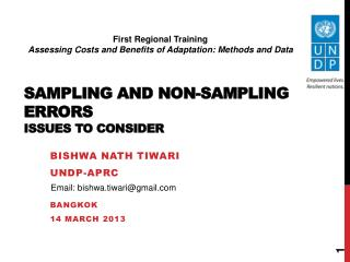 Sampling and Non-Sampling  Errors Issues to Consider