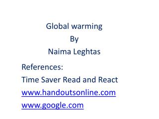 References: Time Saver Read and React handoutsonline google