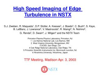 High Speed Imaging of Edge  Turbulence in NSTX