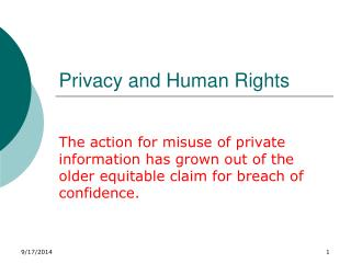 Privacy and Human Rights