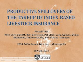 Productive  spillovers  of The  Takeup  of index-based livestock insurance