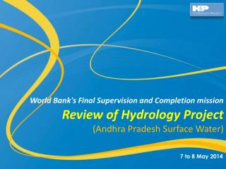 Review of Hydrology Project (Andhra Pradesh Surface Water)