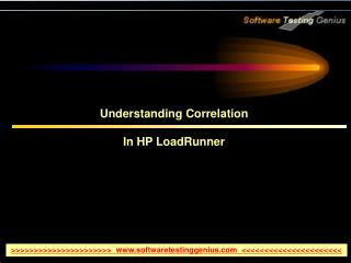 Understanding Correlation In HP LoadRunner