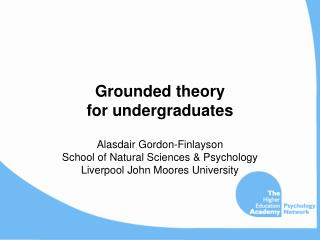 Grounded theory for undergraduates