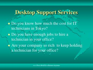 Desktop Support Services