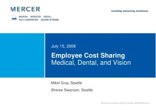 Employee Cost Sharing  Medical, Dental, and Vision