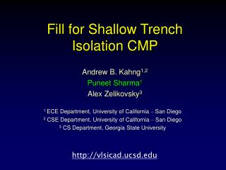 Fill for Shallow Trench Isolation CMP