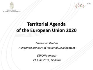 Territorial Agenda  of the European Union 2020