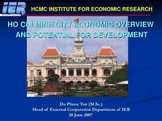 HCMC INSTITUTE FOR ECONOMIC RESEARCH