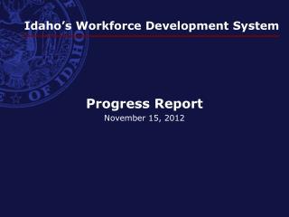 Idaho's Workforce Development System